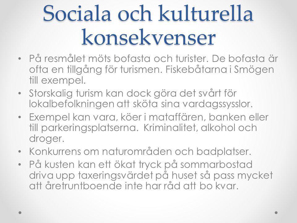Sociala och kulturella konsekvenser