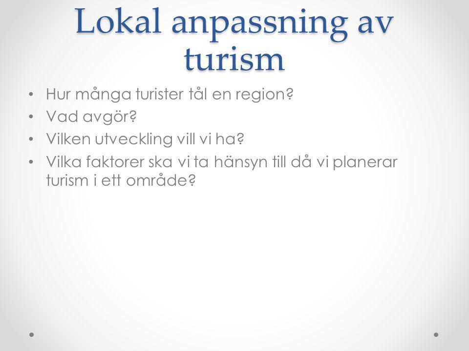 Lokal anpassning av turism