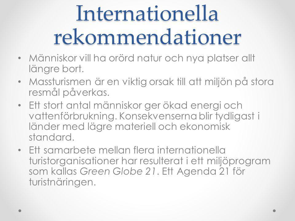 Internationella rekommendationer