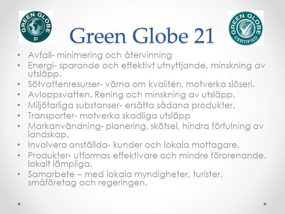 Green Globe 21 Avfall- minimering och återvinning