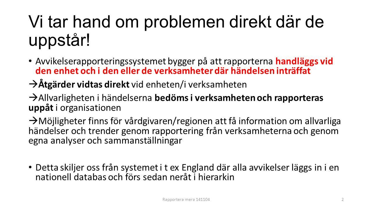 Vi tar hand om problemen direkt där de uppstår!