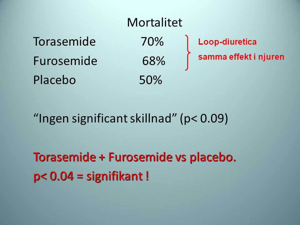 Ingen significant skillnad (p< 0.09)