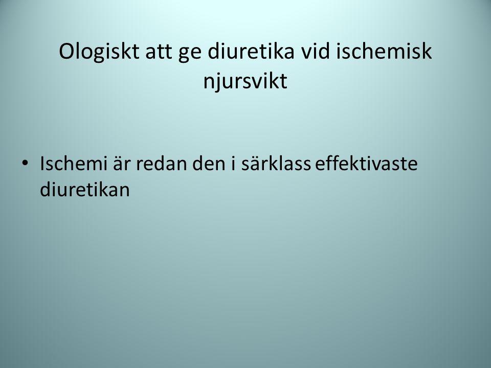 Ologiskt att ge diuretika vid ischemisk njursvikt