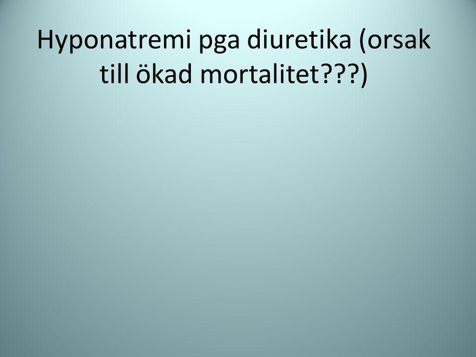 Hyponatremi pga diuretika (orsak till ökad mortalitet )