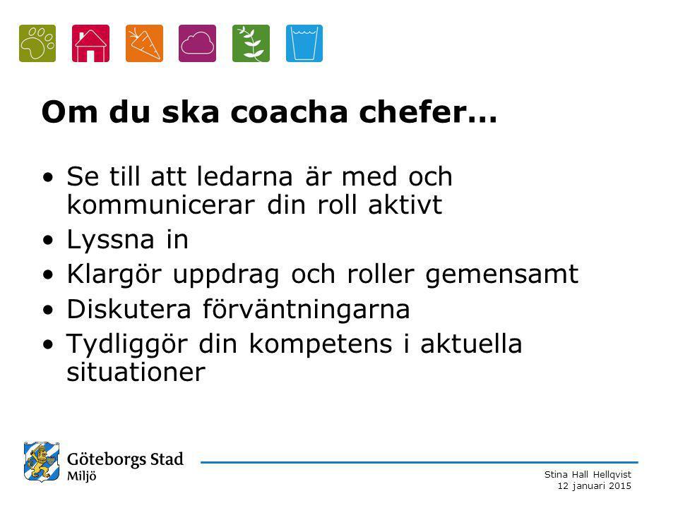 Om du ska coacha chefer…