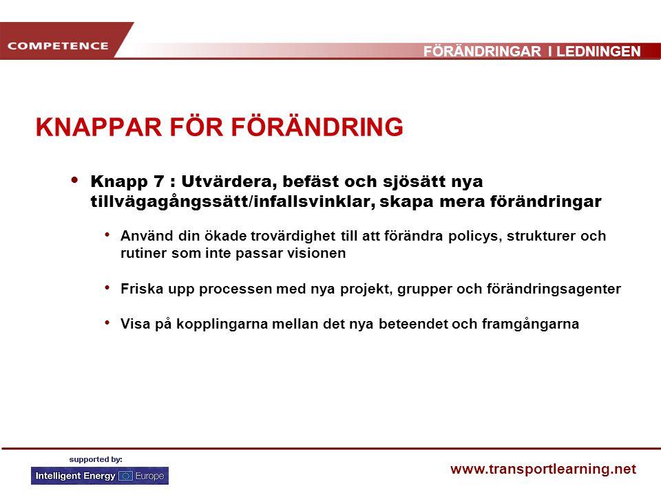 KNAPPAR FÖR FÖRÄNDRING