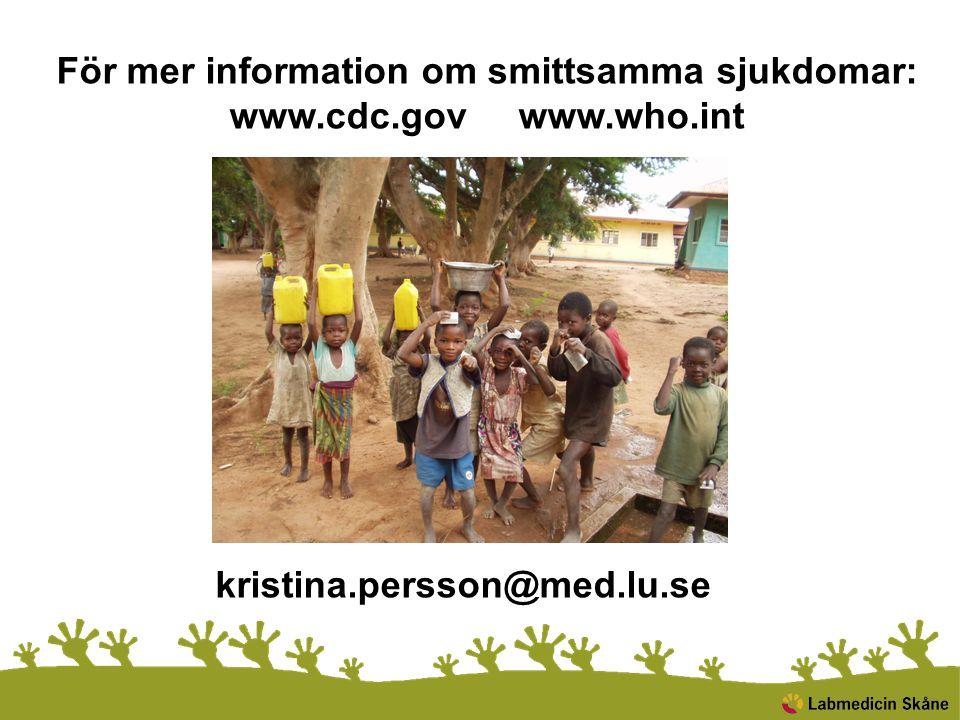 För mer information om smittsamma sjukdomar: