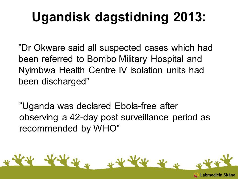 Ugandisk dagstidning 2013: