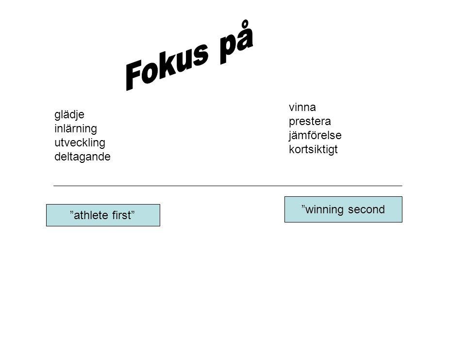 Fokus på vinna prestera jämförelse kortsiktigt glädje inlärning