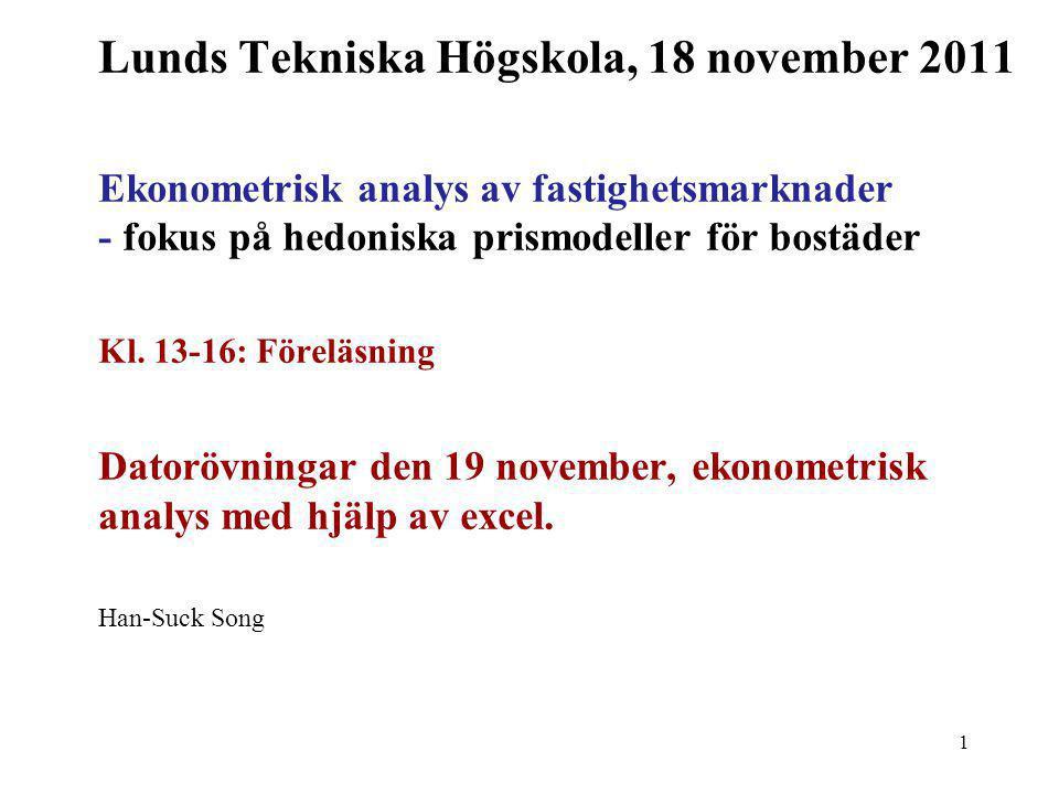Lunds Tekniska Högskola, 18 november 2011