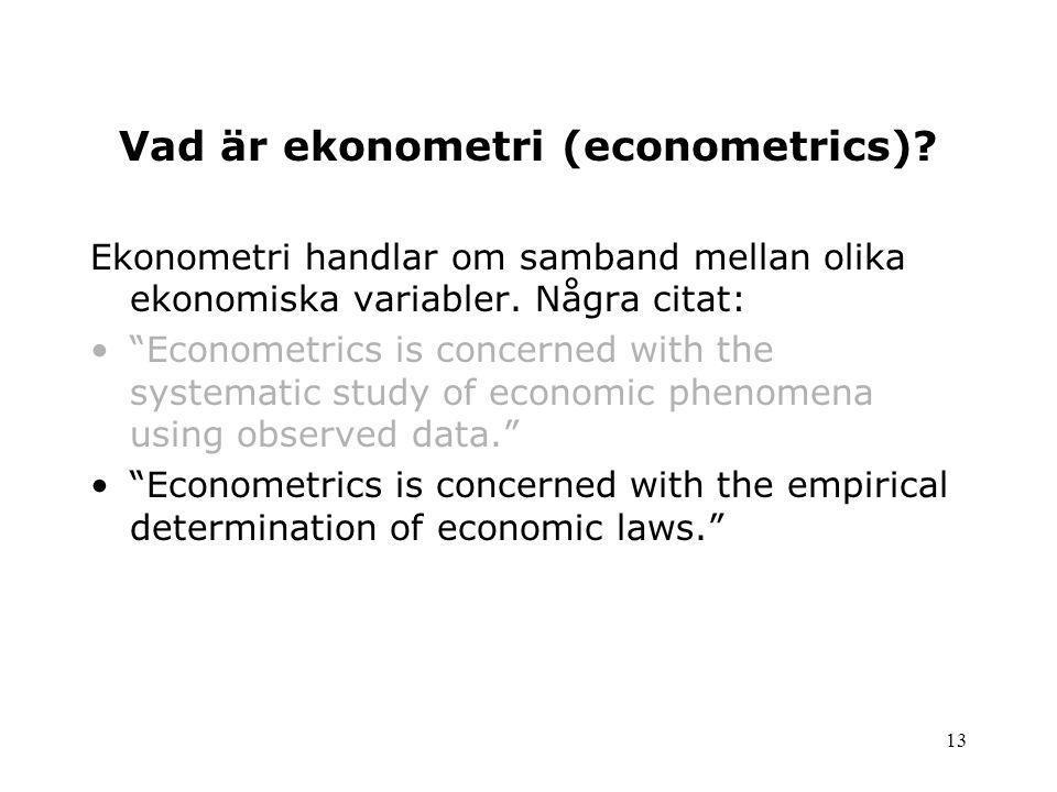 Vad är ekonometri (econometrics)