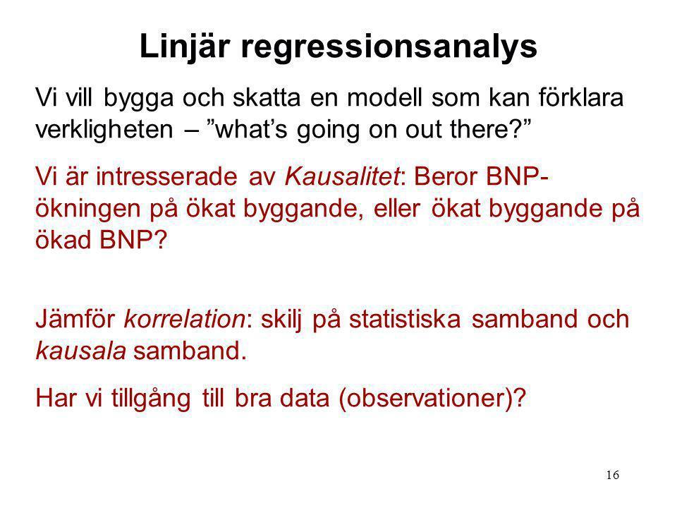 Linjär regressionsanalys
