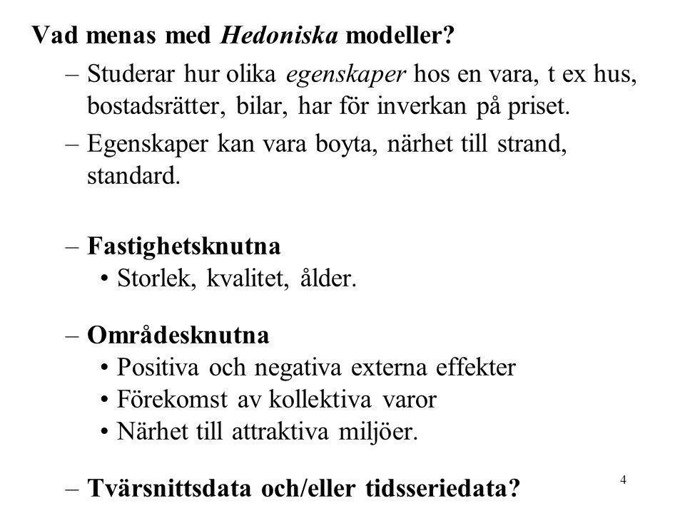 Vad menas med Hedoniska modeller