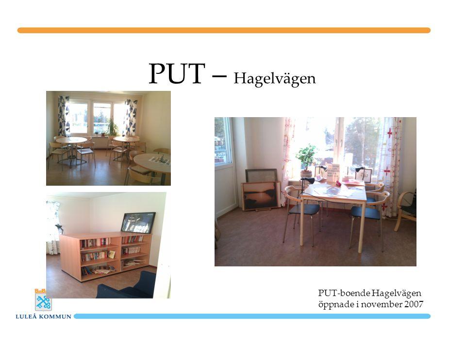 PUT – Hagelvägen PUT-boende Hagelvägen öppnade i november 2007