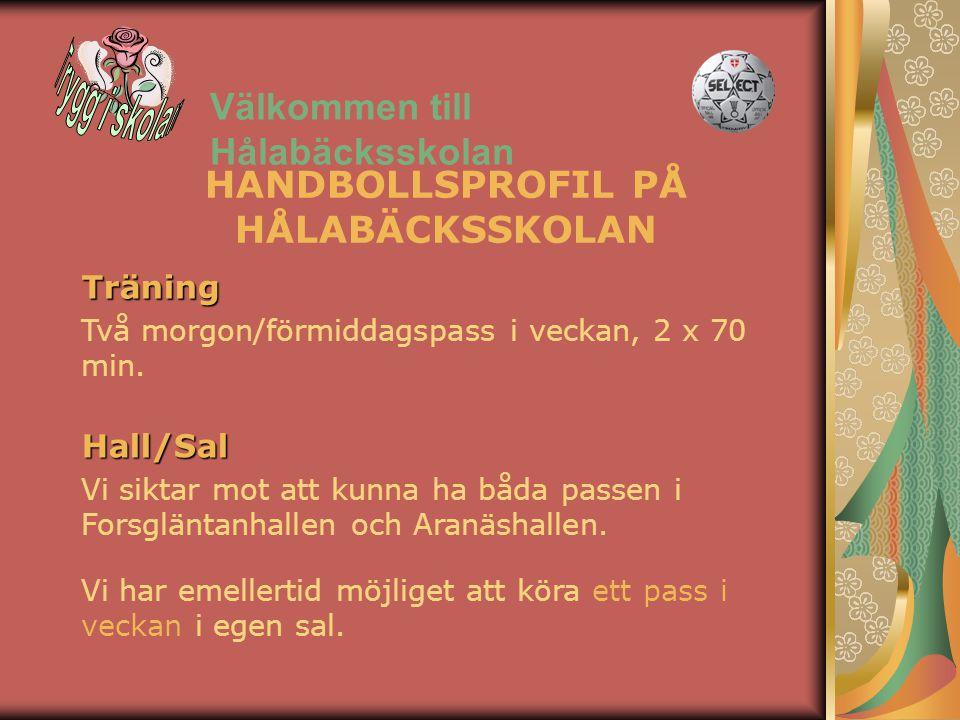 HANDBOLLSPROFIL PÅ HÅLABÄCKSSKOLAN