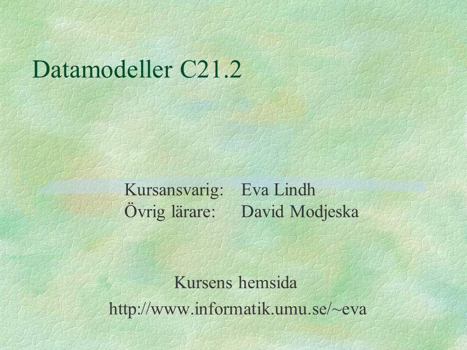 Kursens hemsida http://www.informatik.umu.se/~eva