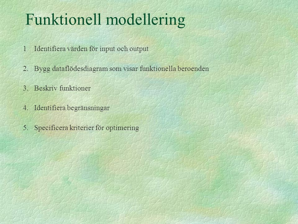 Funktionell modellering