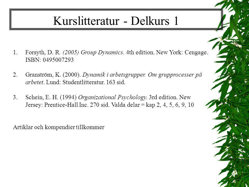 Kurslitteratur - Delkurs 1