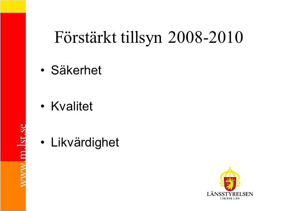 Förstärkt tillsyn 2008-2010 Säkerhet Kvalitet Likvärdighet