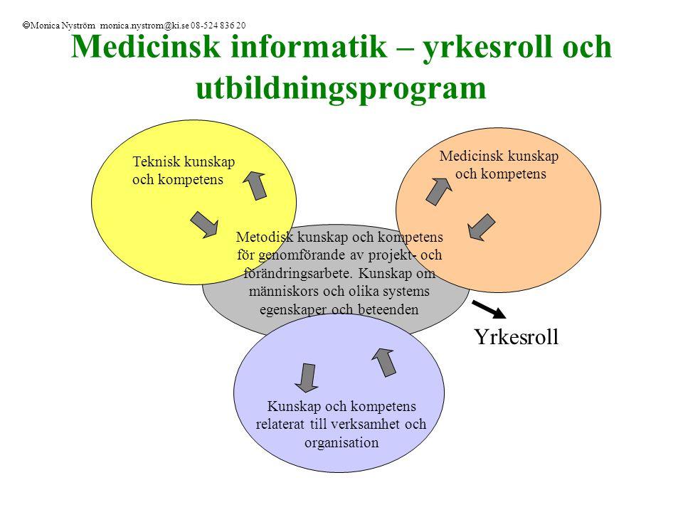 Medicinsk informatik – yrkesroll och utbildningsprogram