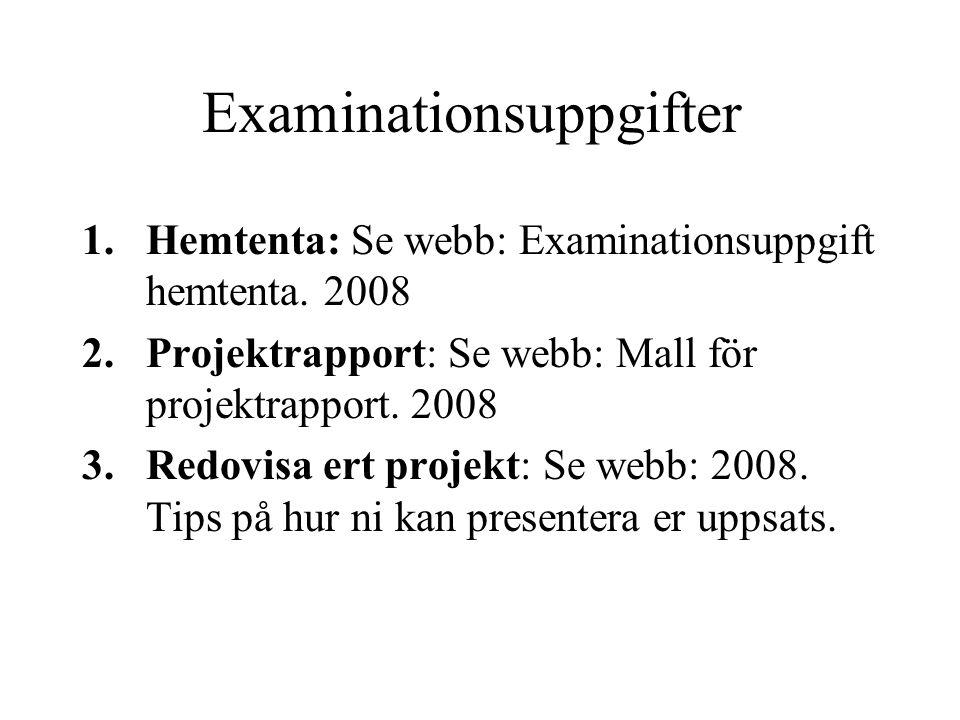 Examinationsuppgifter