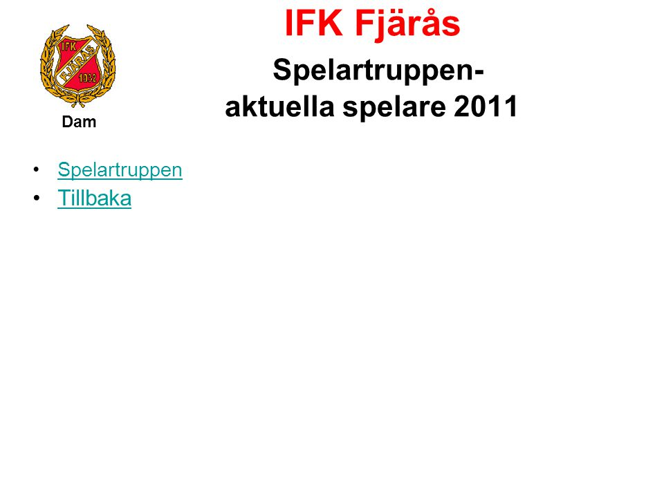 IFK Fjärås Spelartruppen- aktuella spelare 2011