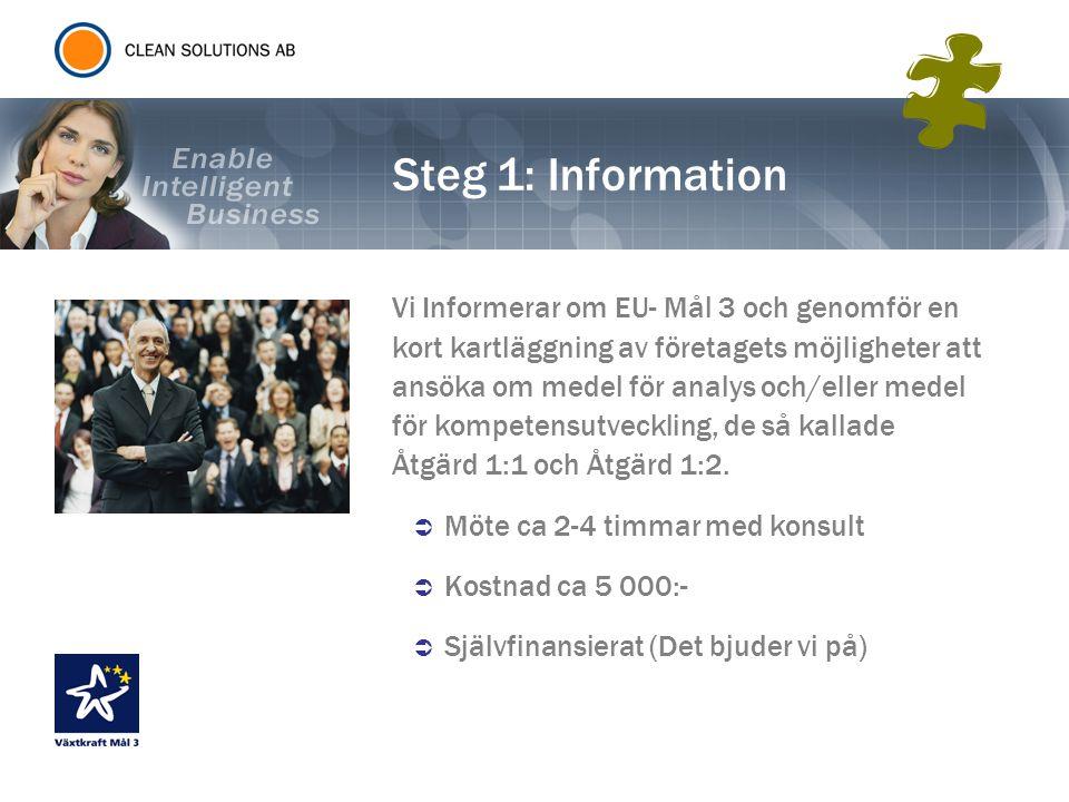 Steg 1: Information