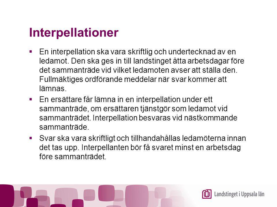 Interpellationer