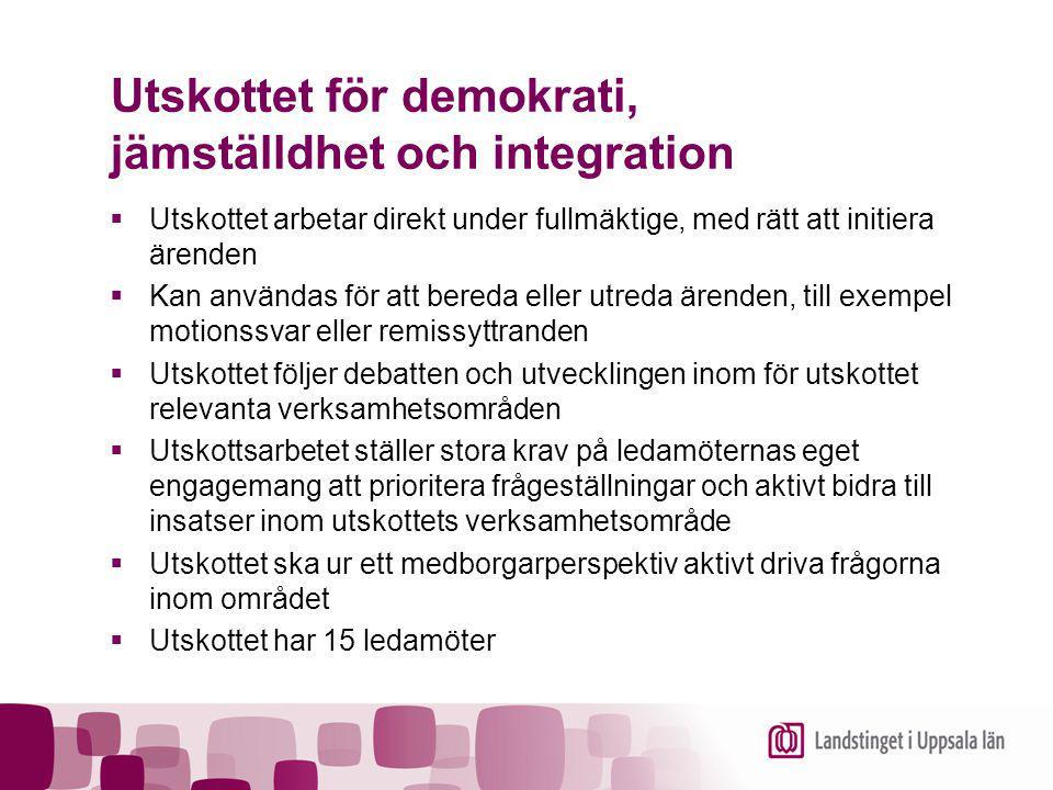 Utskottet för demokrati, jämställdhet och integration