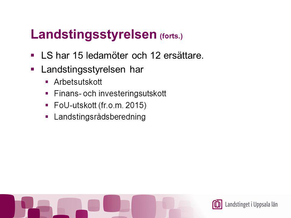 Landstingsstyrelsen (forts.)