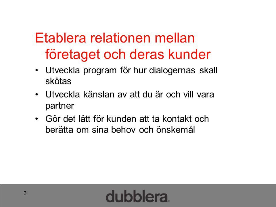 Etablera relationen mellan företaget och deras kunder