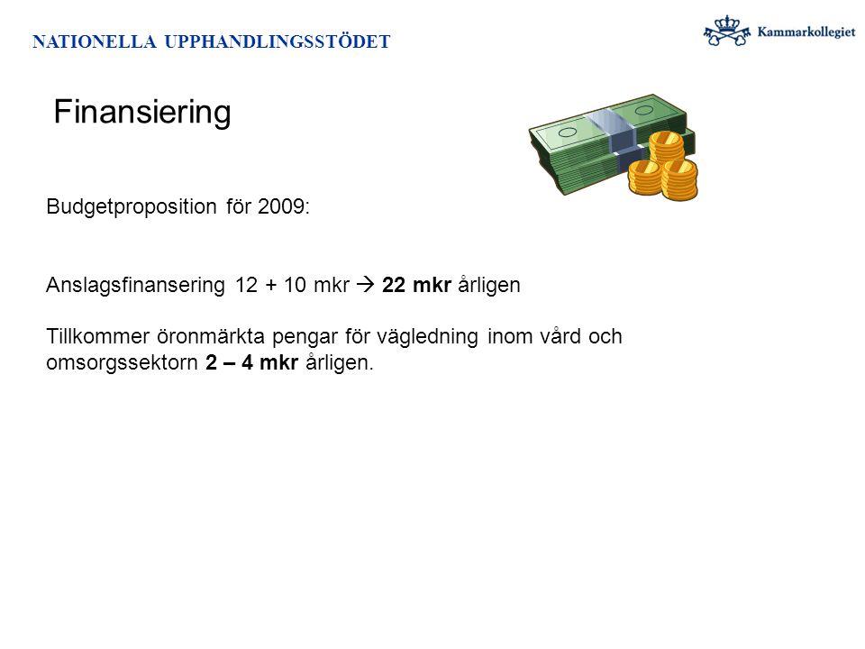 Finansiering Budgetproposition för 2009: