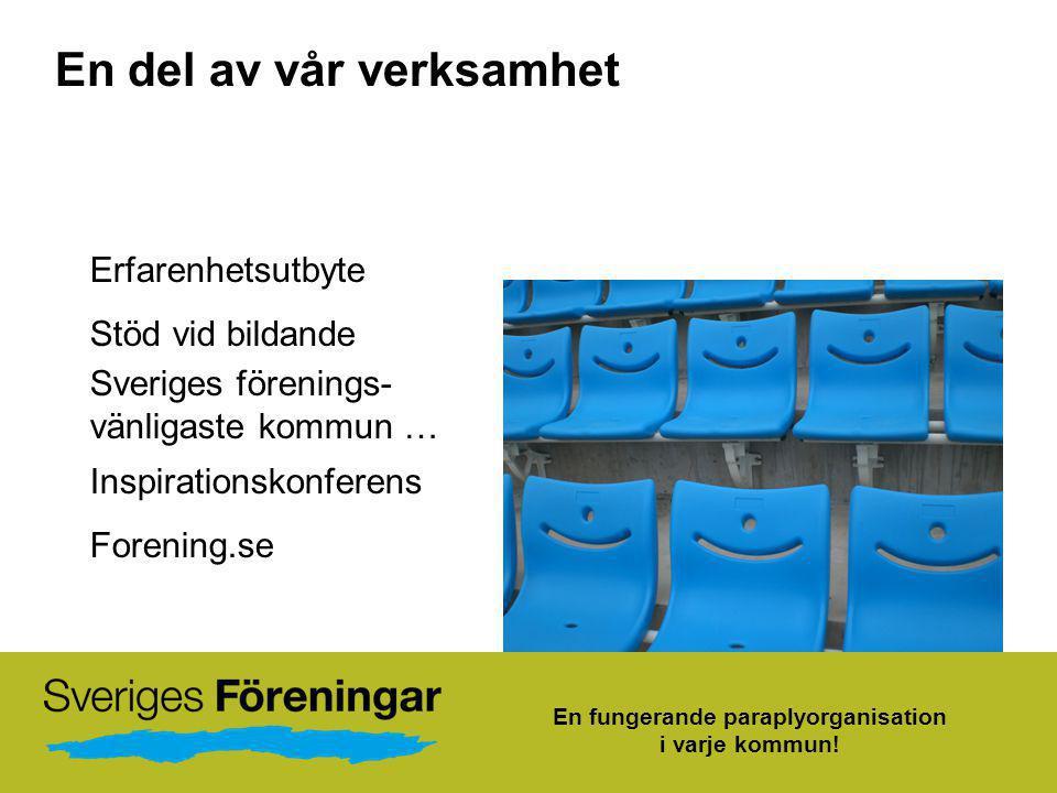 En fungerande paraplyorganisation i varje kommun!