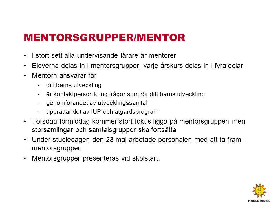 MENTORSGRUPPER/MENTOR