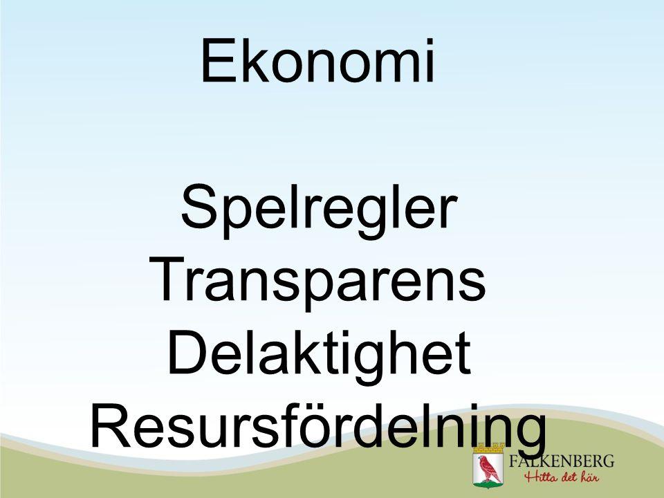 Ekonomi Spelregler Transparens Delaktighet Resursfördelning