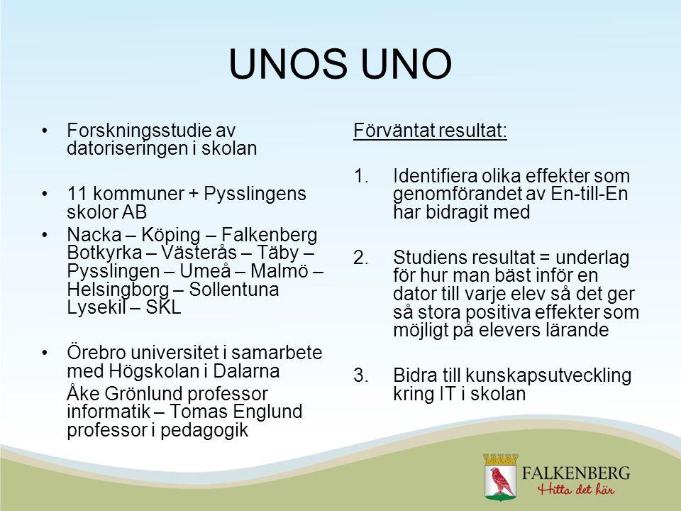 UNOS UNO Forskningsstudie av datoriseringen i skolan