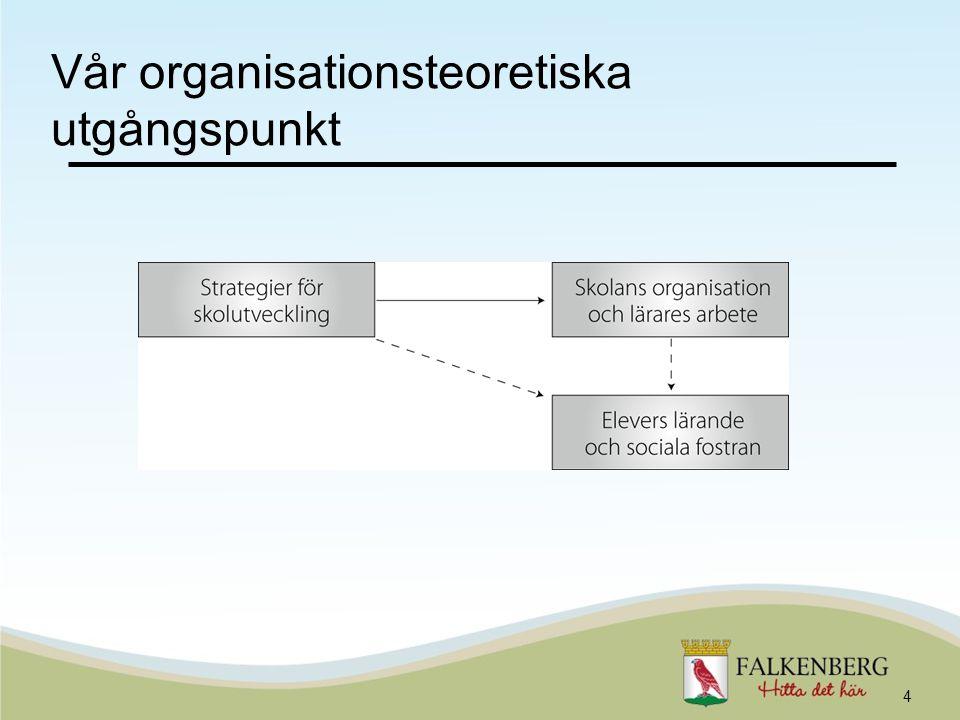 Vår organisationsteoretiska utgångspunkt