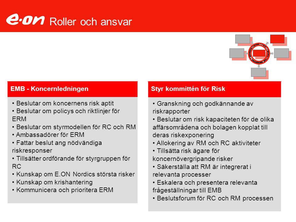 Roller och ansvar EMB - Koncernledningen