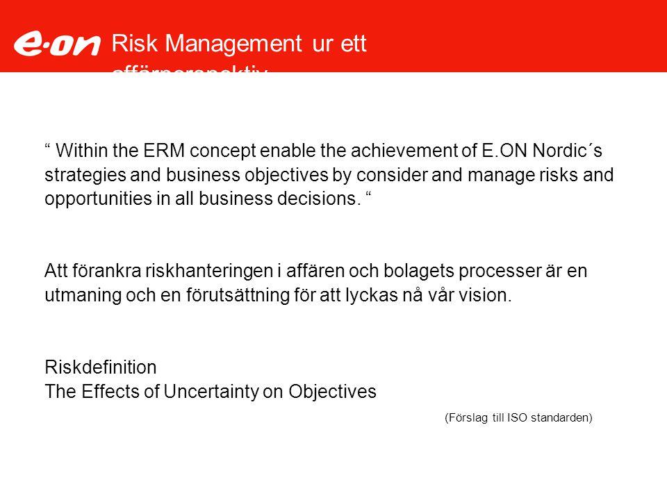 Risk Management ur ett affärperspektiv