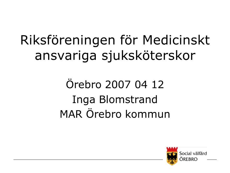 Riksföreningen för Medicinskt ansvariga sjuksköterskor
