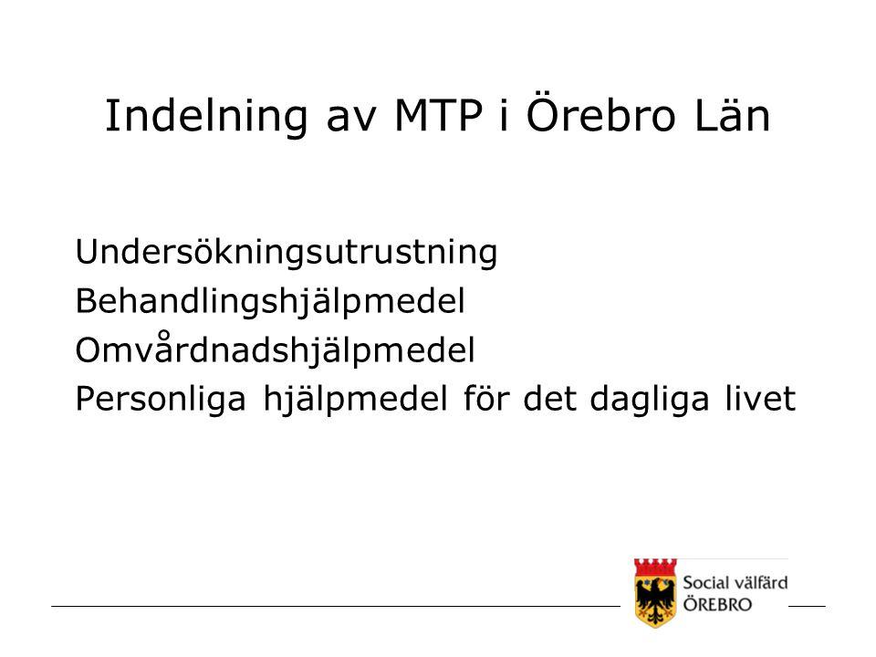 Indelning av MTP i Örebro Län