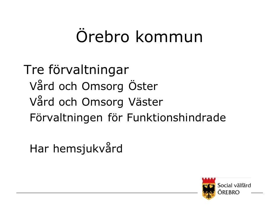 Örebro kommun Tre förvaltningar Vård och Omsorg Öster