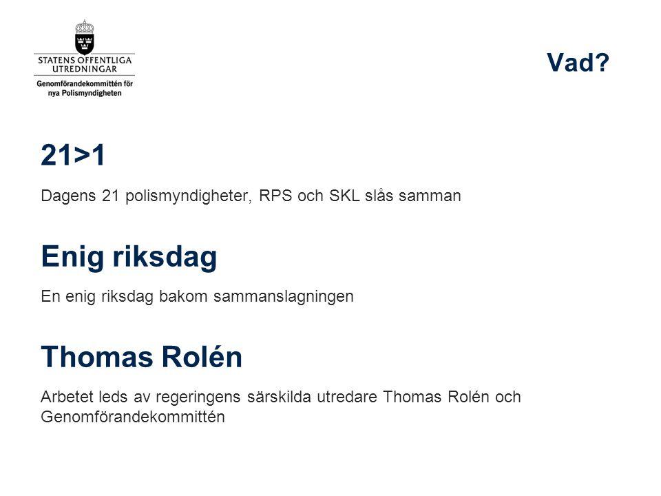 21>1 Enig riksdag Thomas Rolén Vad