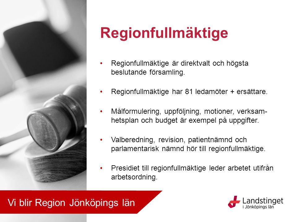 Regionfullmäktige Vi blir Region Jönköpings län