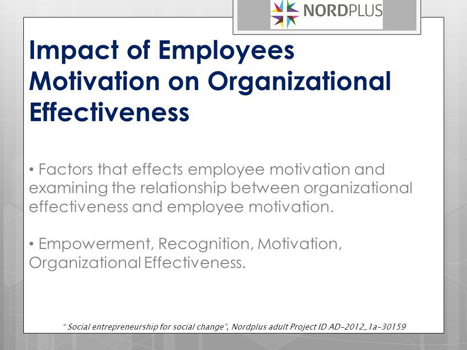 Impact of Employees Motivation on Organizational Effectiveness