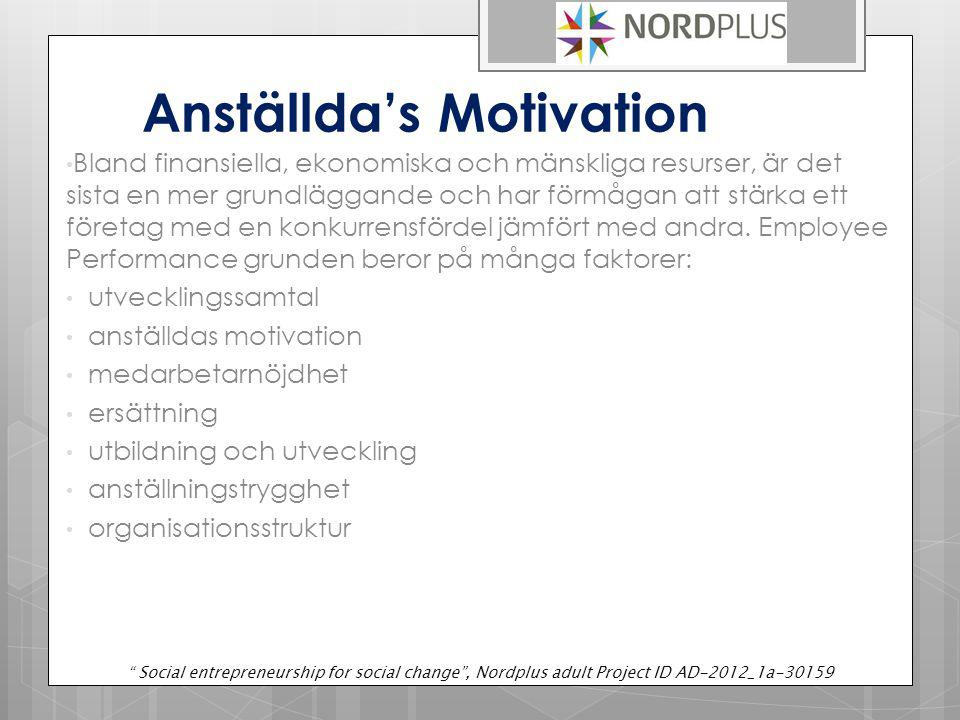 Anställda's Motivation