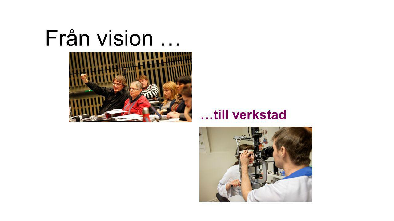 Från vision … …till verkstad
