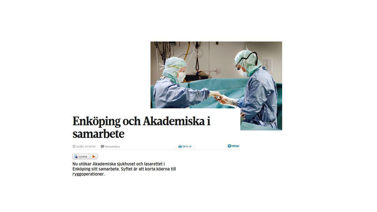 Vi har drivit på i samarbetet mellan Lasarettet i Enköping och Akademiska sjukhuset för att använda våra vårdresurser på bästa sätt och hålla tillbaka väntetiderna i vården, trots stigande vårdbehov