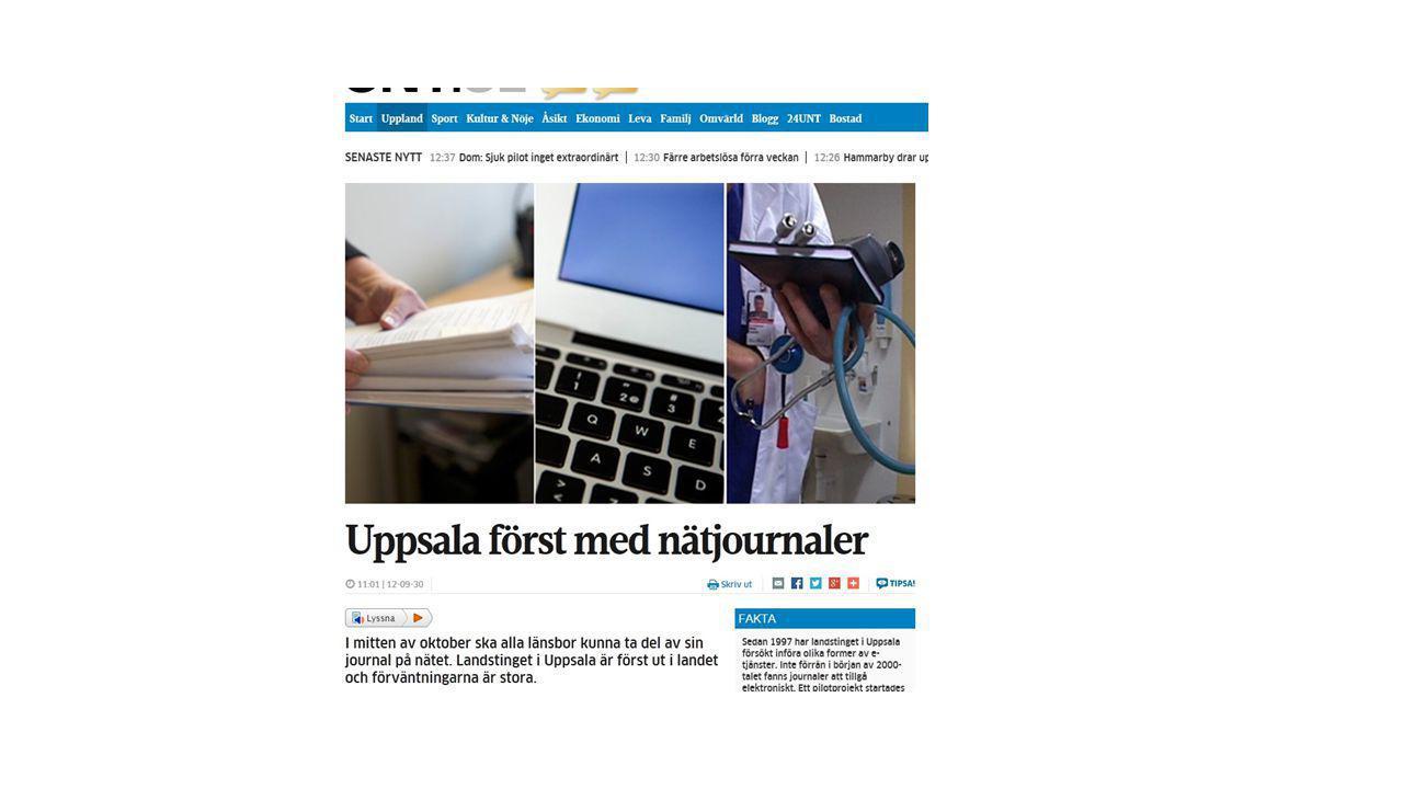 Vi har varit först i Sverige med att göra det möjligt för patienter att läsa sina journaler på nätet.