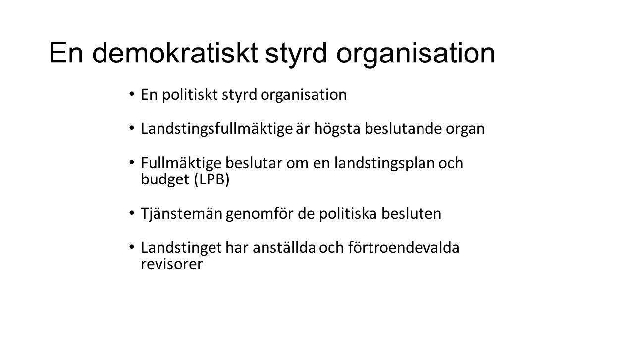 En demokratiskt styrd organisation